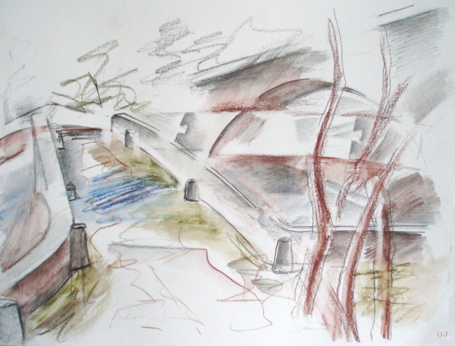 olivier jeunon,aquarelle,crayon,dessin,pierre perthuis,yonne