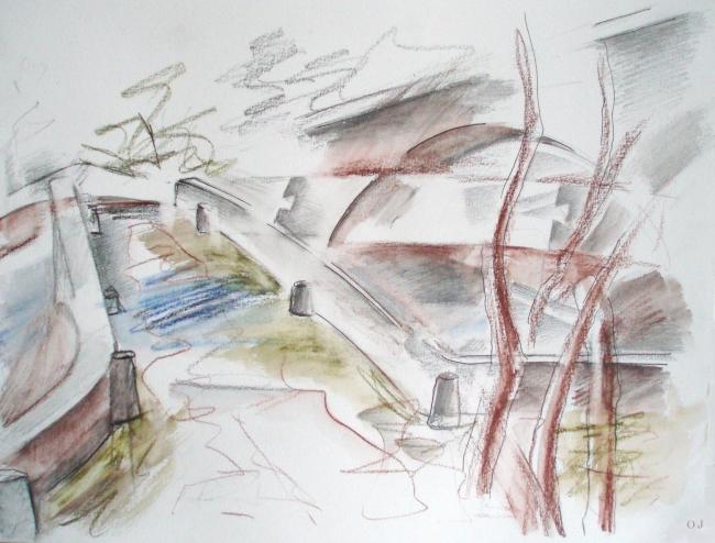 olivier jeunon,aquarelle,crayon,dessin,pierre perthuis,yonne