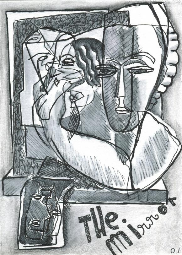 olivier jeunon,sculpture,Zadkine,encre,dessin