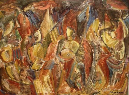 les anges,musique,gouache,peinture à l'huile