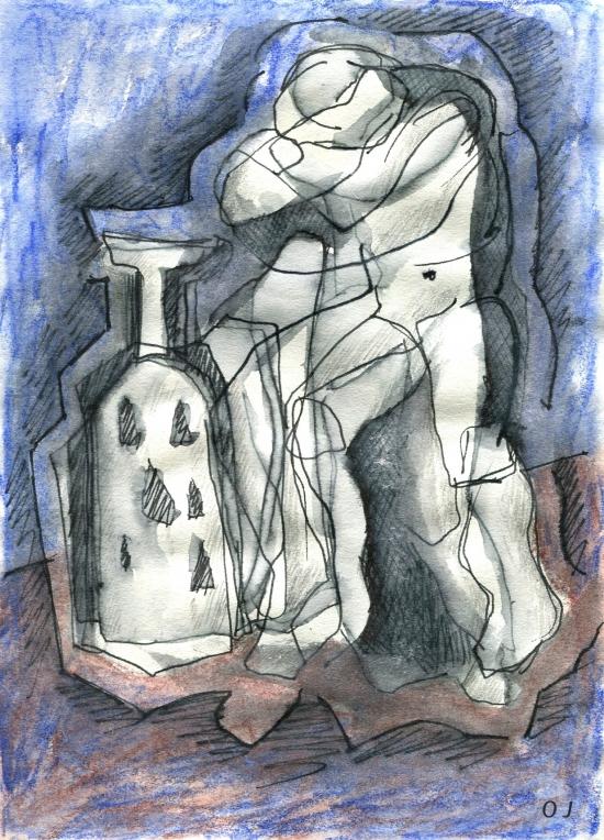 olivier jeunon,encre,dessin,aquarelle,crayon,