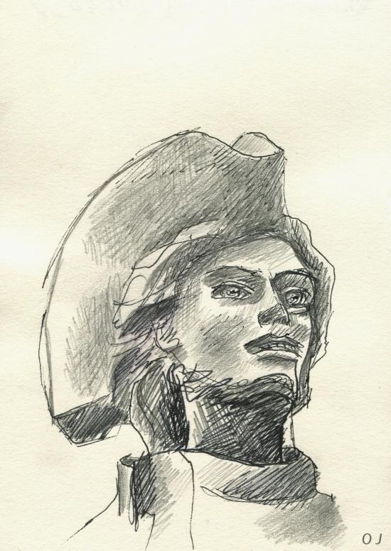 Montmartre,olivier jeunon,encre,dessin,crayon,Chevalier de la Barre