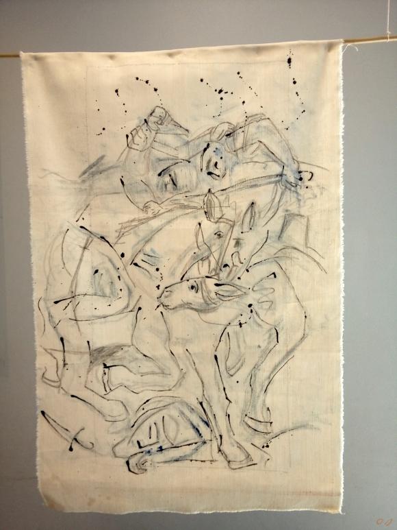 olivier jeunon,pré saint gervais, dessin,encre,peinture,