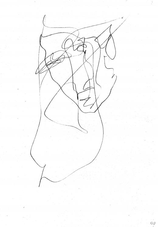 olivier jeunon,dessin,autoportrait