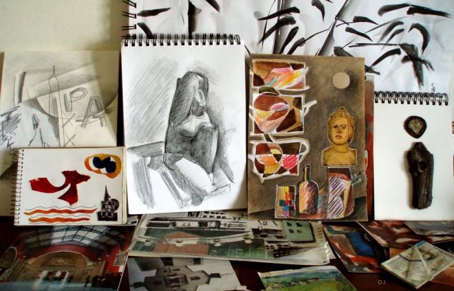 collages,dessin