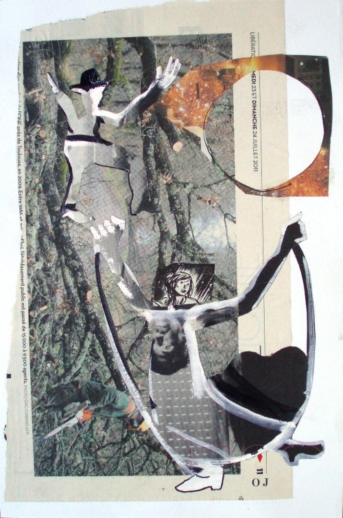 collage,olivier jeunon,danse
