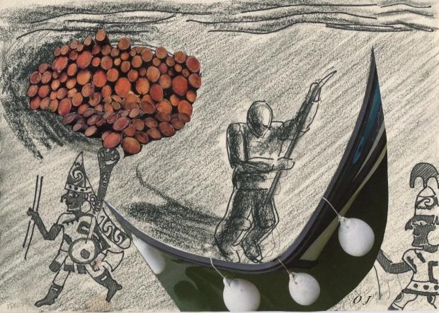 olivier jeunon, collage,