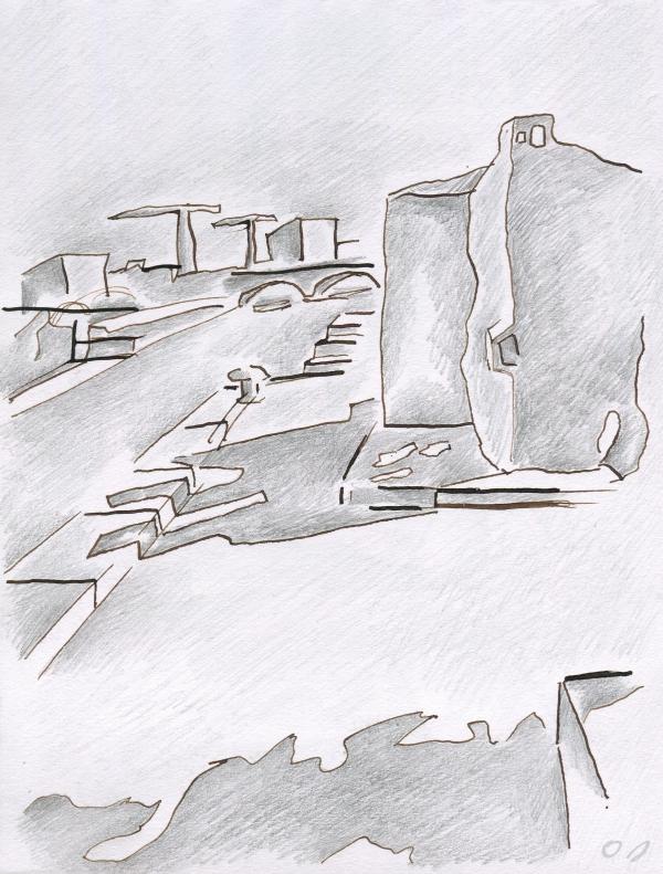 olivier jeunon,dessin,collage,quai de la gare,