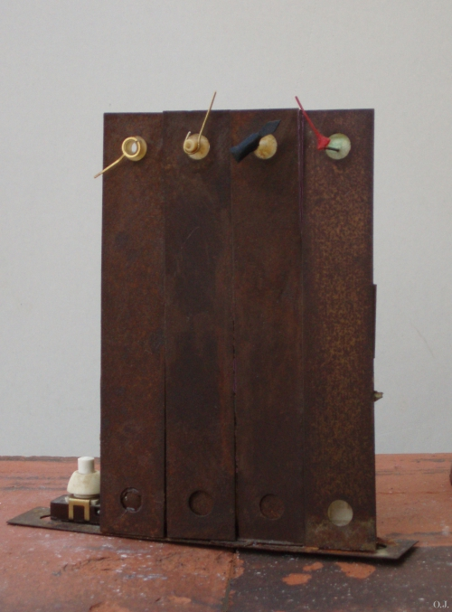sculpture,olivier jeunon,assemblage sonore,sculpture métal