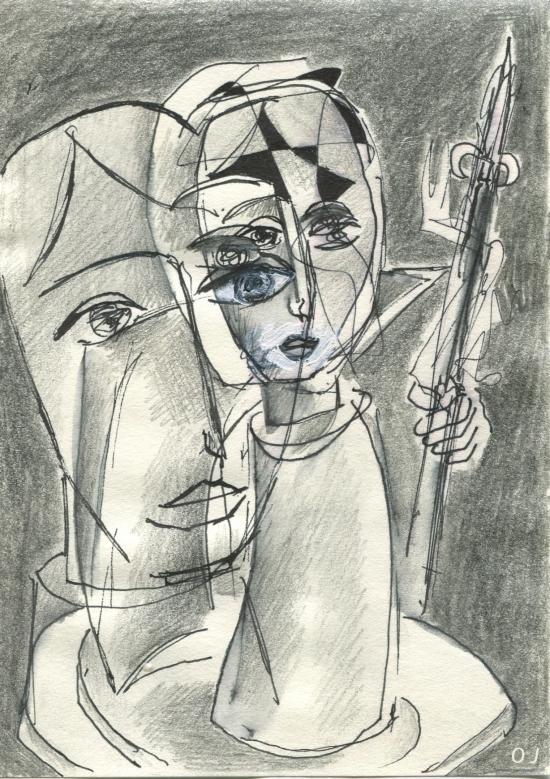 olivier jeunon,encre,dessin,crayon,aquarelle
