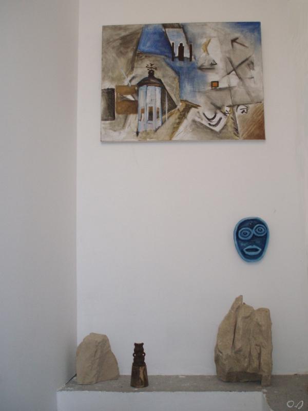 olivier jeunon,sculpture,peinture,terre cuite,pierre,installation