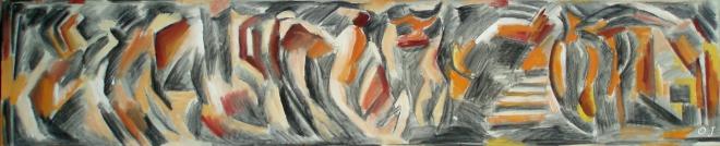 olivier jeunon,sonia delaunay,peinture,dessin,acrylique,toile