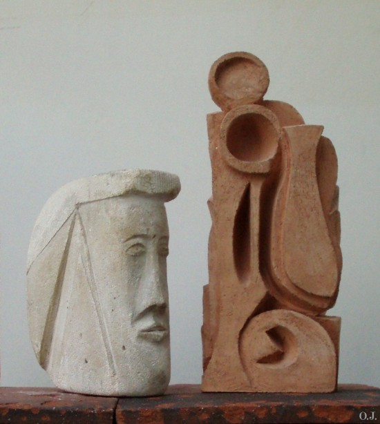 sculpture,terre cuite,modelage,olivier jeunon,dominique jourlin,argile
