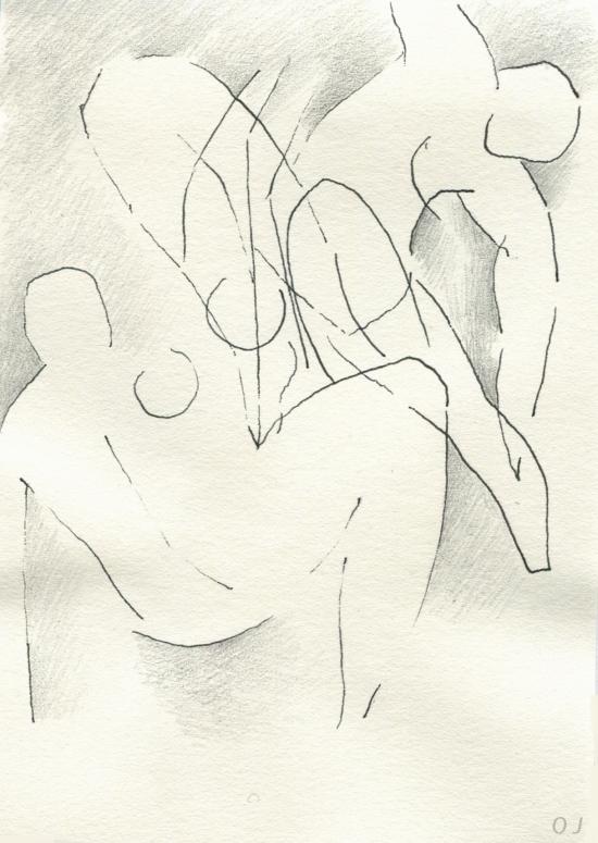 olivier jeunon,encre,crayon,dessin,modèle vivant,